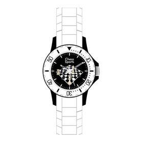 Reloj de pulsera Chess Evolution (blanco)