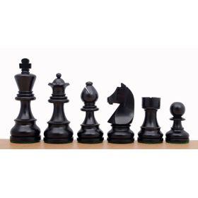 """Piezas madera plomadas Staunton """"German Knight"""" nº 6 (ebanizadas)"""