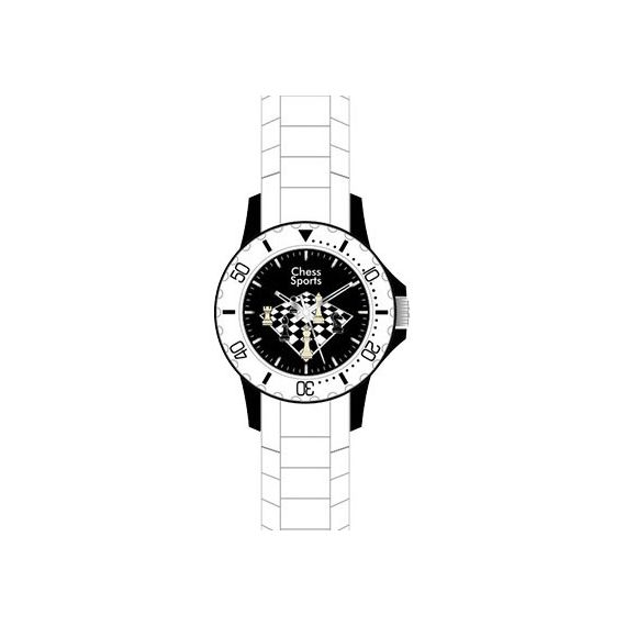 Reloj de pulsera Chess Evolution (blanco)