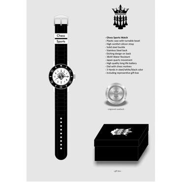 Reloj de pulsera Chess Evolution (negro)