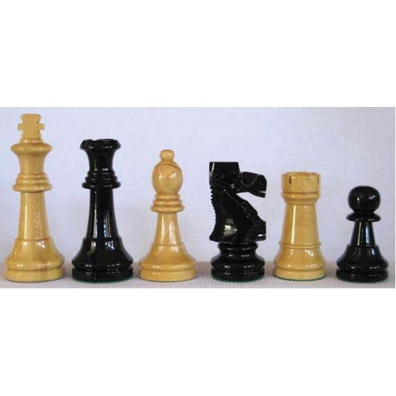 Piezas madera boj Staunton nº 3 color negro