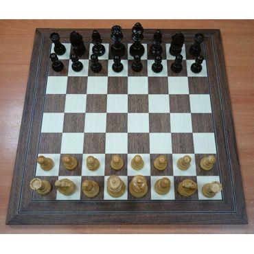 Conjunto madera Staunton Europa nº 5 y tablero nogal 45 mm