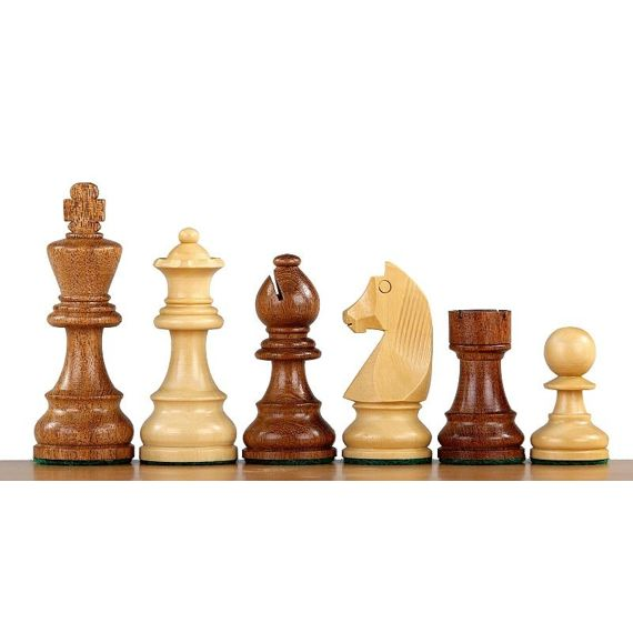 """Piezas madera plomadas Staunton """"German Knight Acacia"""" nº 6"""