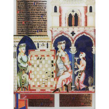 "Cuadro ""Libro del Ajedrez de Alfonso X"""