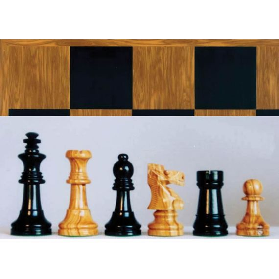Conjunto madera olivo tablero y piezas Staunton nº 5