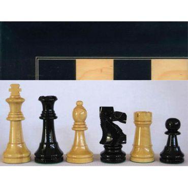 Conjunto madera tablero color negro y piezas boj Staunton nº 3
