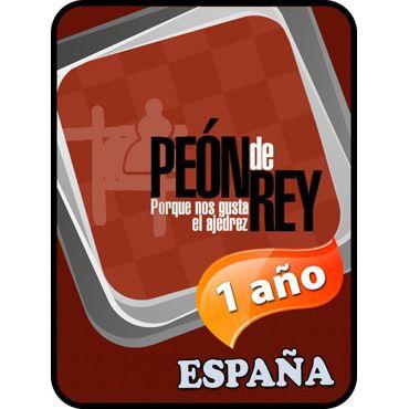 1 año España Suscripción Peón de Rey + LIBRO REGALO